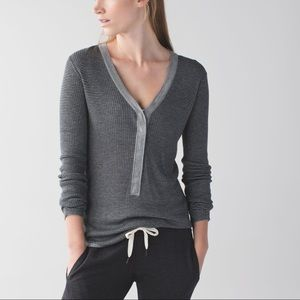 LULULEMON Find Your Mantra Henley Cashmere Bamboo